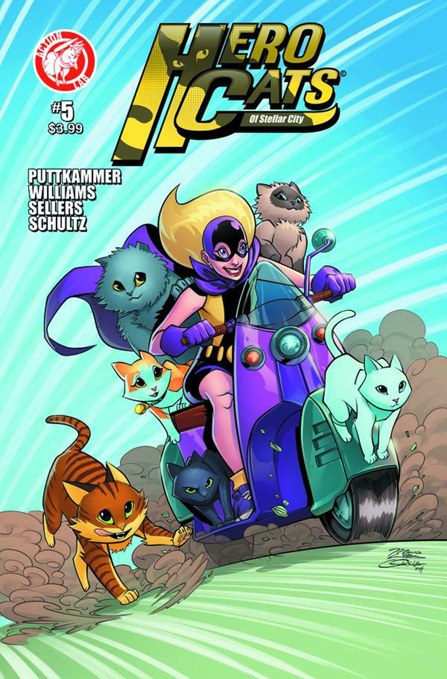 Hero Cats #5 Cover B Variant Marcus Williams Cover