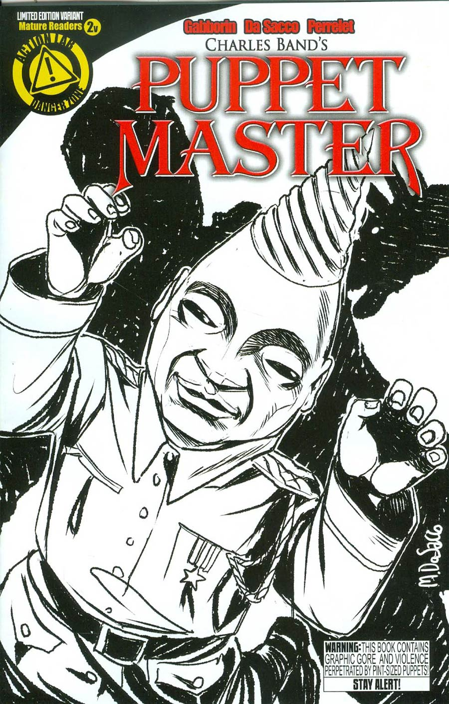 Puppet Master #2 Cover C Variant Tunneler Sketch Cover