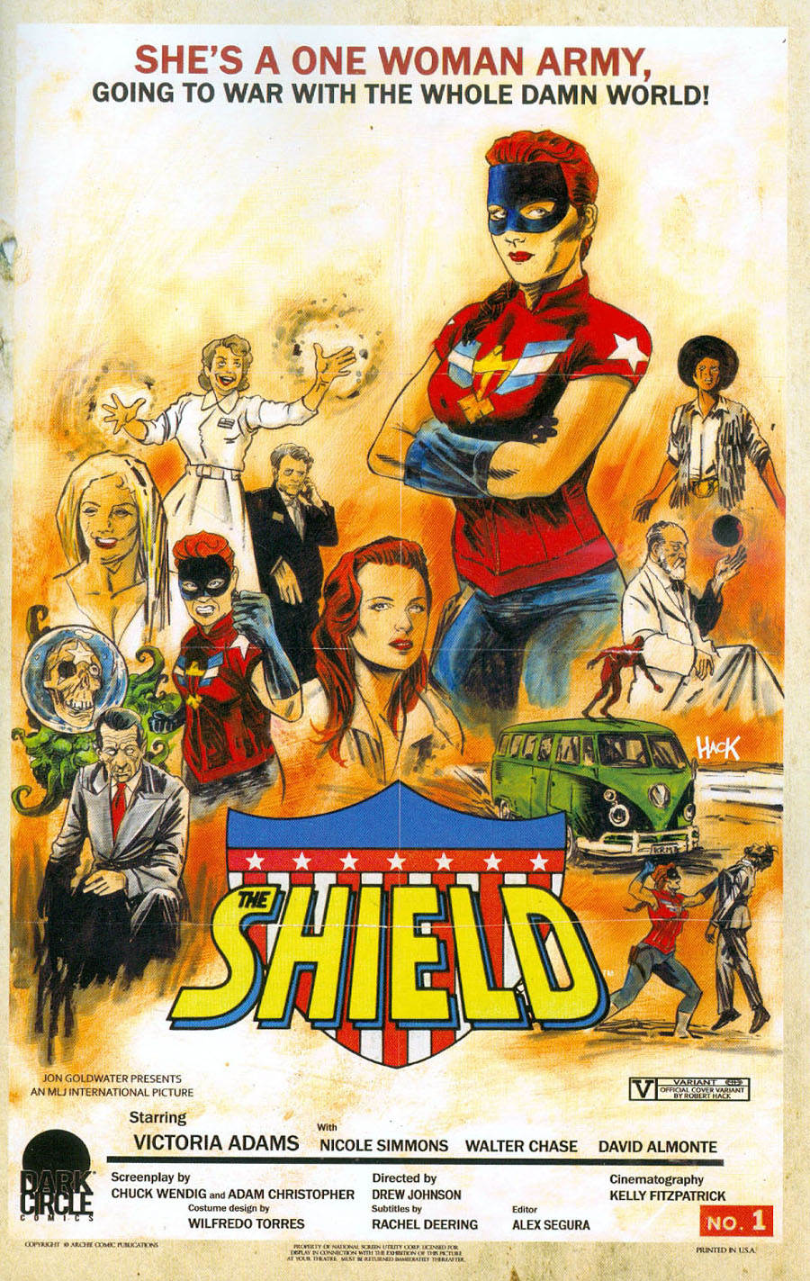 Shield Vol 3 #1 Cover E Variant Robert Hack Dark Circle Movie Throwback Cover