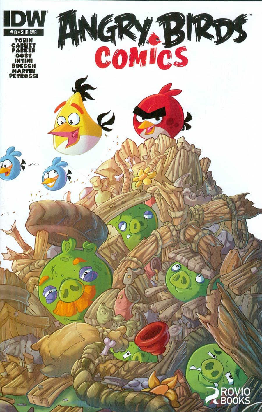 Angry Birds Comics #10 Cover B Variant Ciro Cangialosi Subscription Cover
