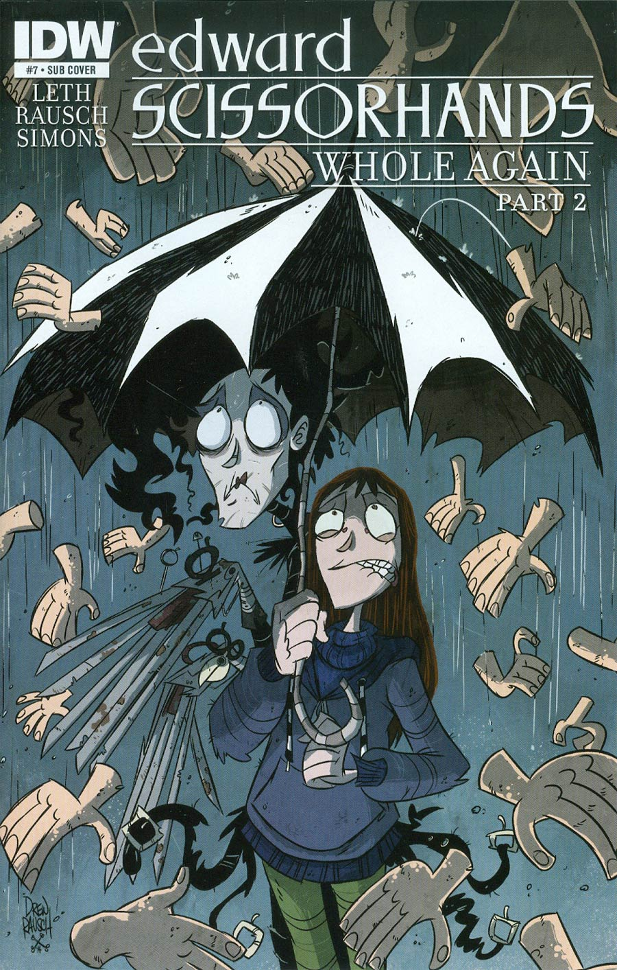 Edward Scissorhands #7 Cover B Variant Drew Rausch Subscription Cover