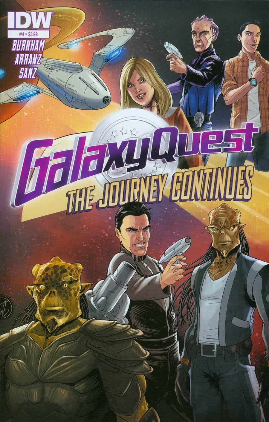 Galaxy Quest Journey Continues #4 Cover A Regular Nacho Arranz Cover