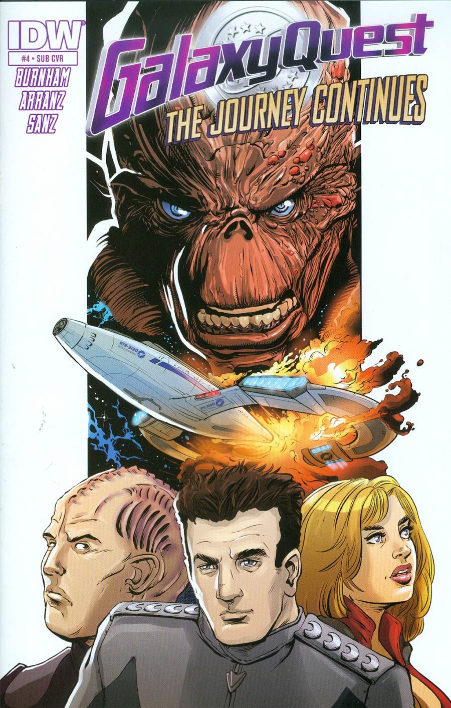 Galaxy Quest Journey Continues #4 Cover B Variant Vincent Riley Subscription Cover