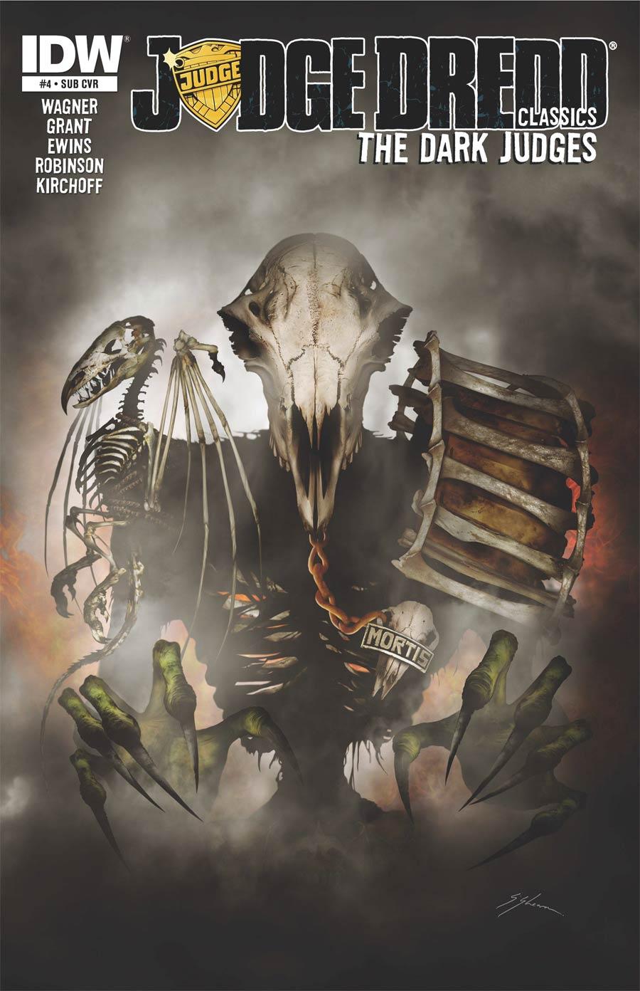 Judge Dredd Classics Dark Judges #4 Cover B Variant Sam Mister-Sam Shearon Subscription Cover