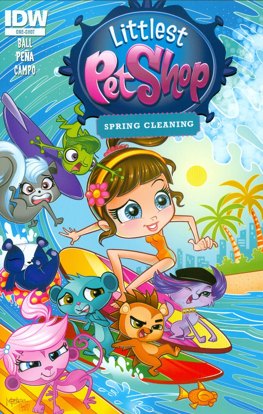 Littlest Pet Shop Spring Cleaning One Shot Cover A Regular Nicanor Pena Cover