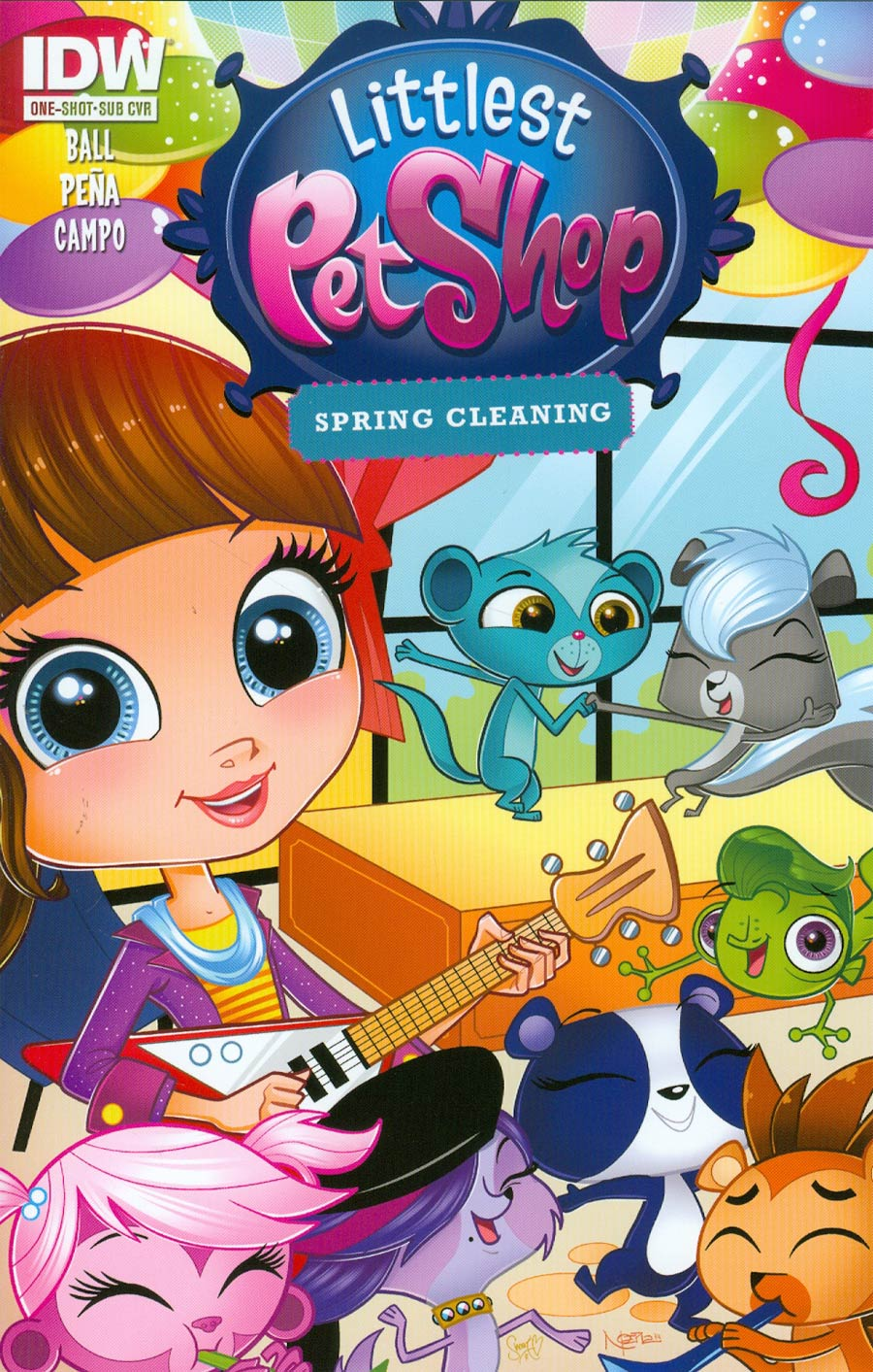 Littlest Pet Shop Spring Cleaning One Shot Cover B Variant Nicanor Pena Subscription Cover