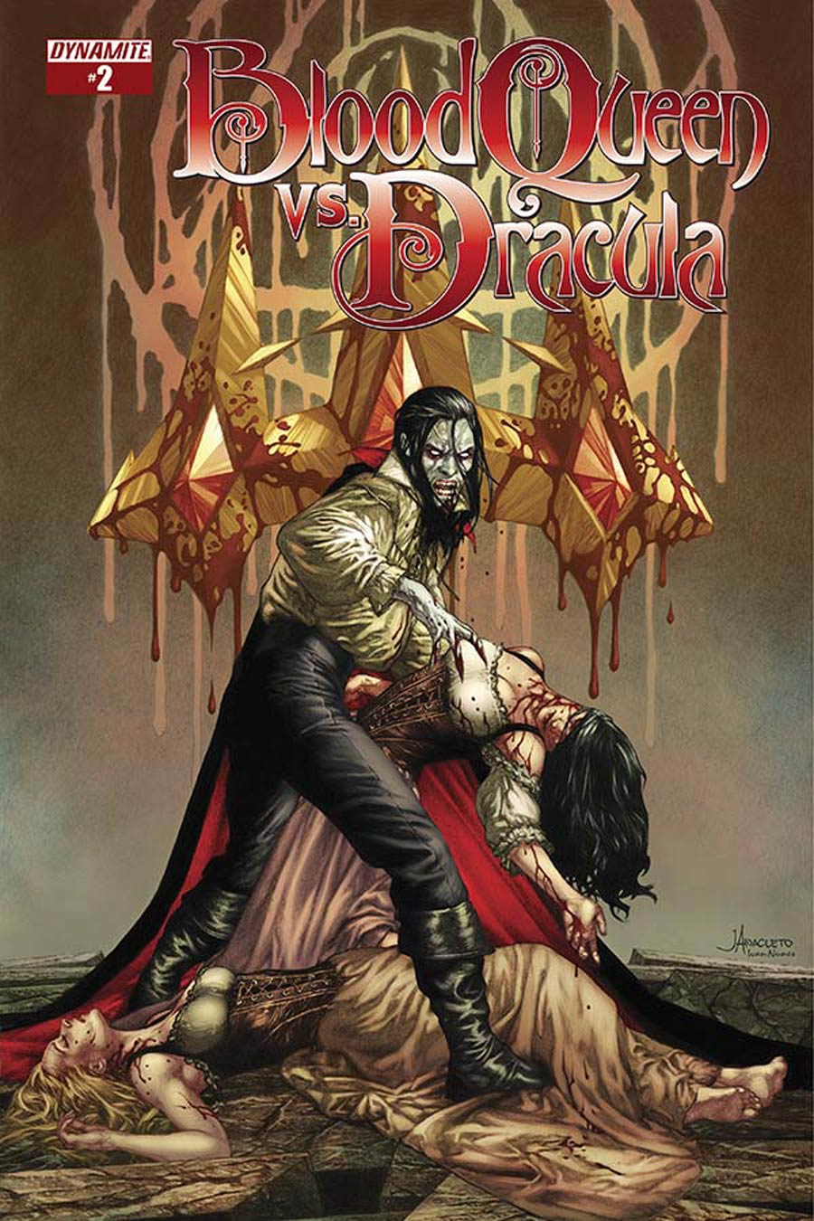 Blood Queen vs Dracula #2 Cover A Regular Jay Anacleto Cover