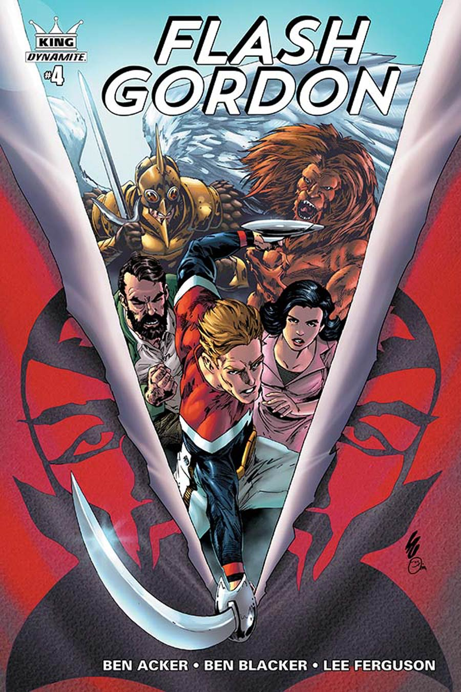 King Flash Gordon #4 Cover A Regular Jonathan Lau Cover