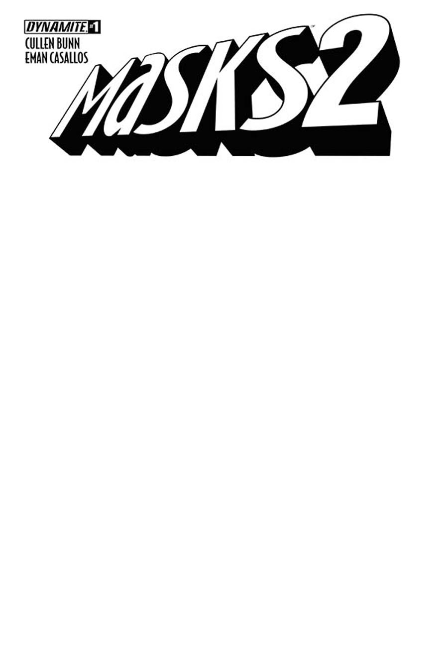 Masks 2 #1 Cover D Variant Blank Authentix Cover