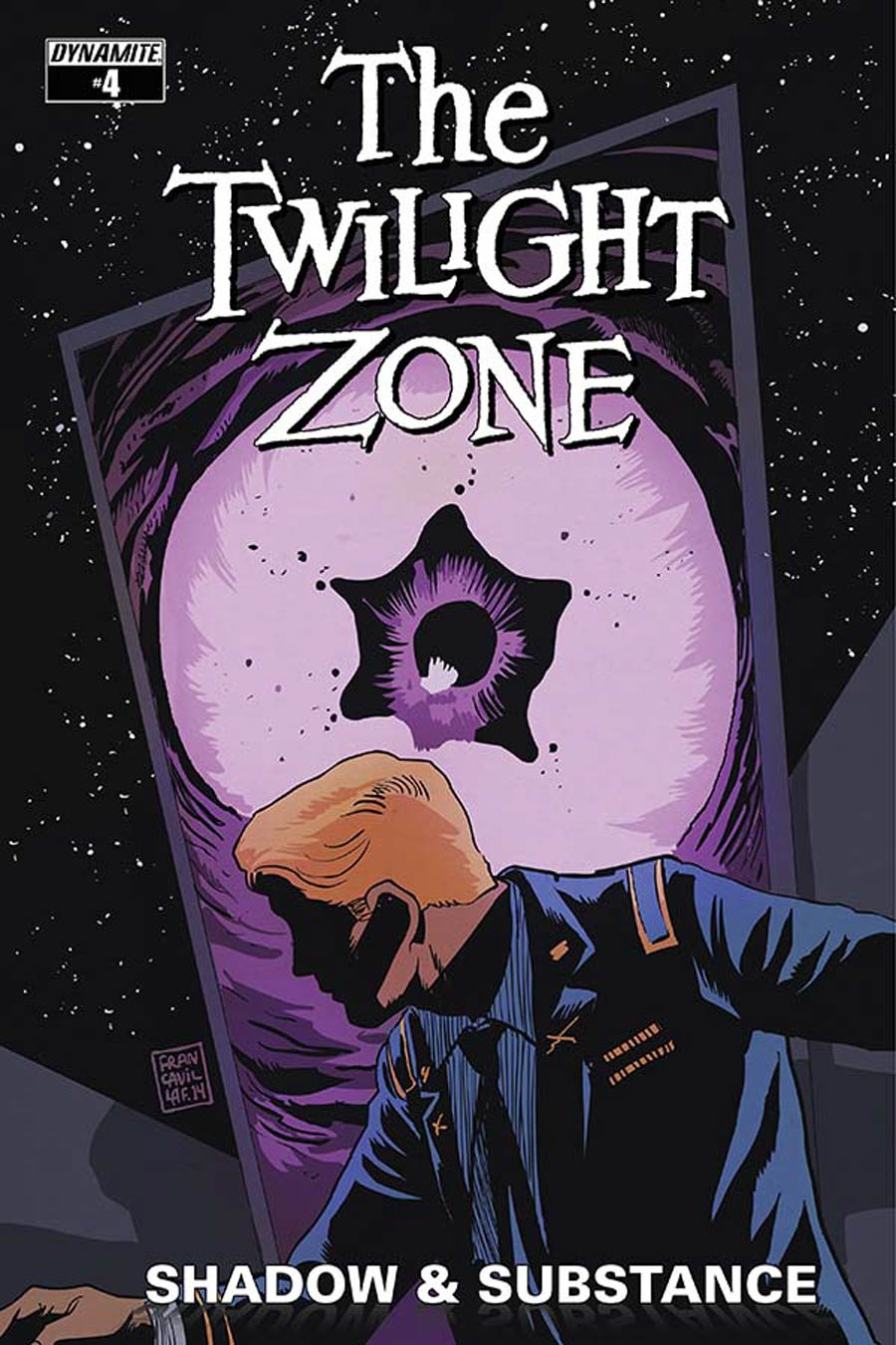 Twilight Zone Shadow & Substance #4 Cover B Variant Francesco Francavilla Cover