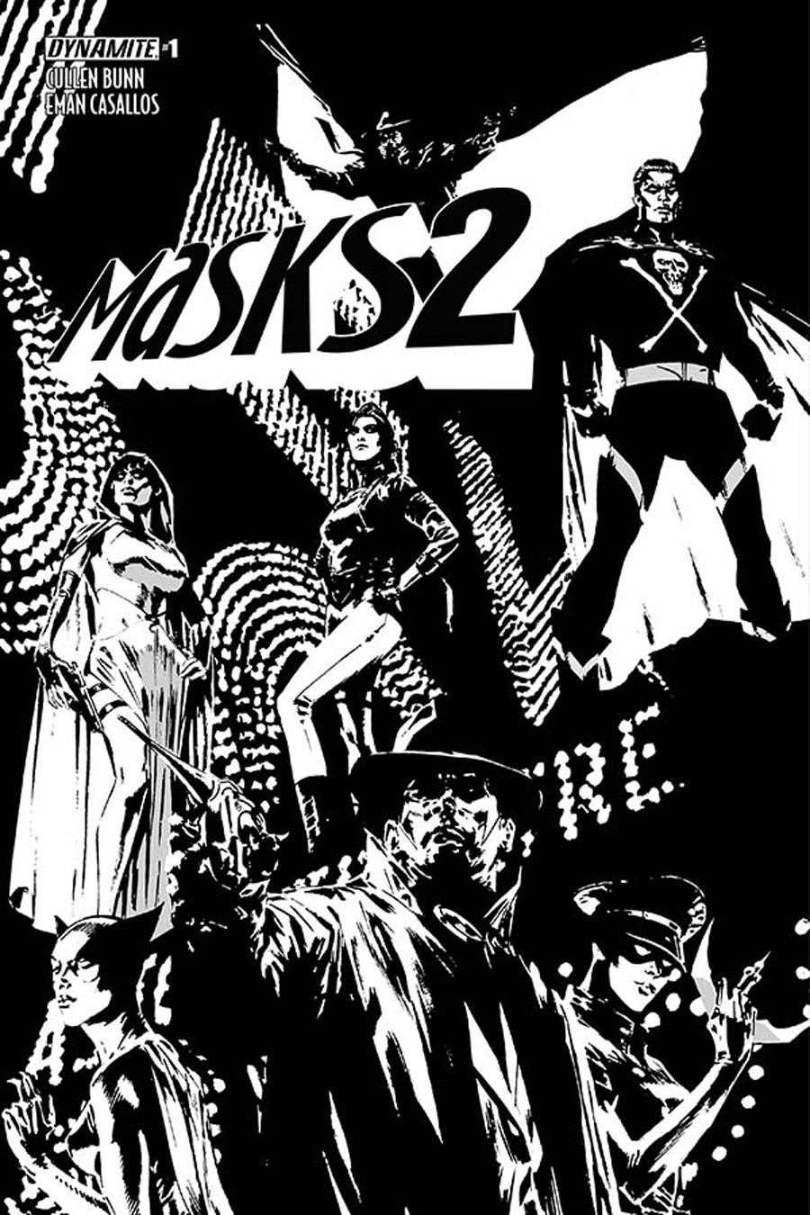 Masks 2 #1 Cover H Incentive Butch Guice Black & White Cover