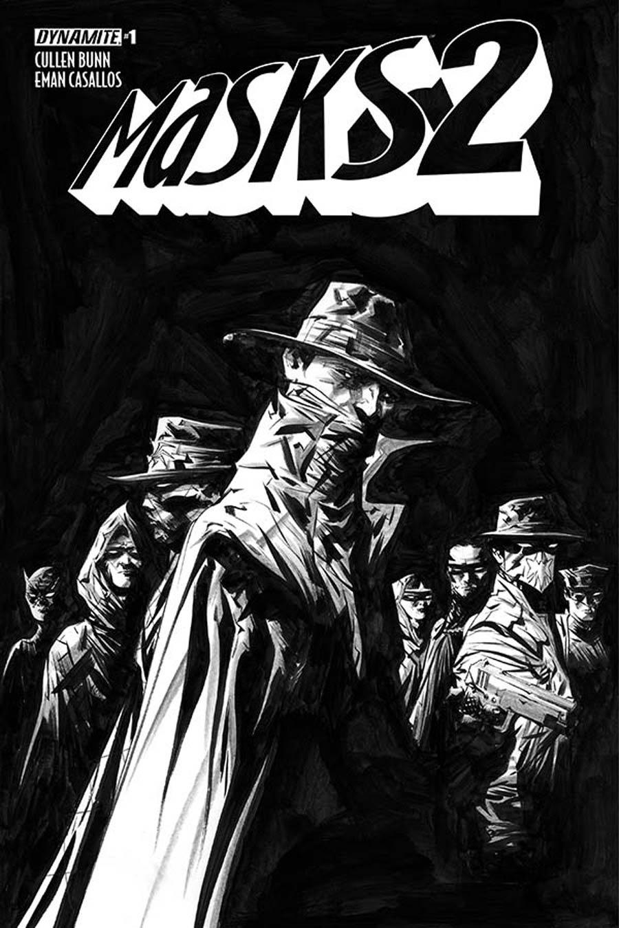 Masks 2 #1 Cover I Incentive Jae Lee Black & White Cover