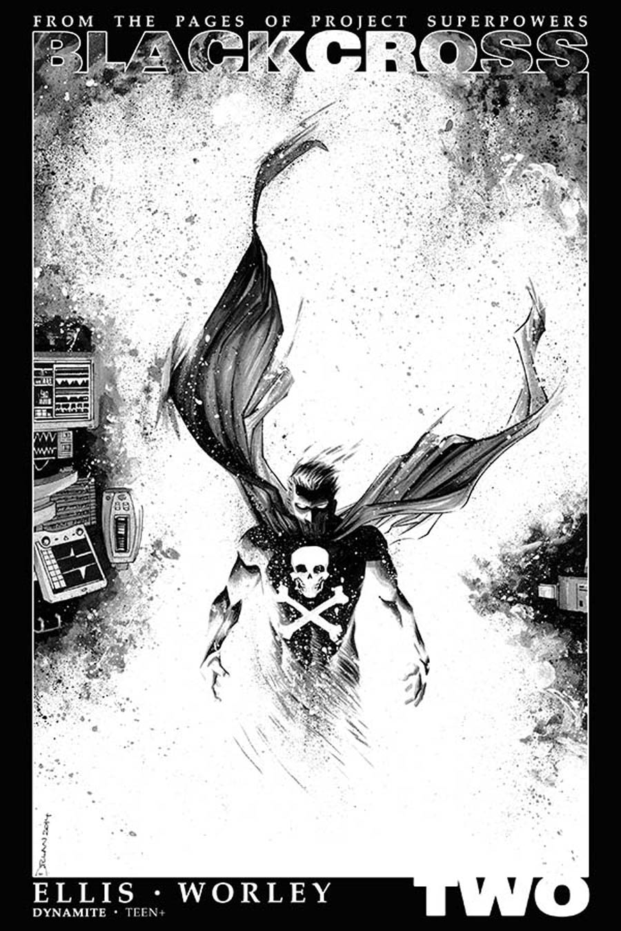 Project Superpowers Blackcross #2 Cover F Incentive Declan Shalvey Black & White Cover