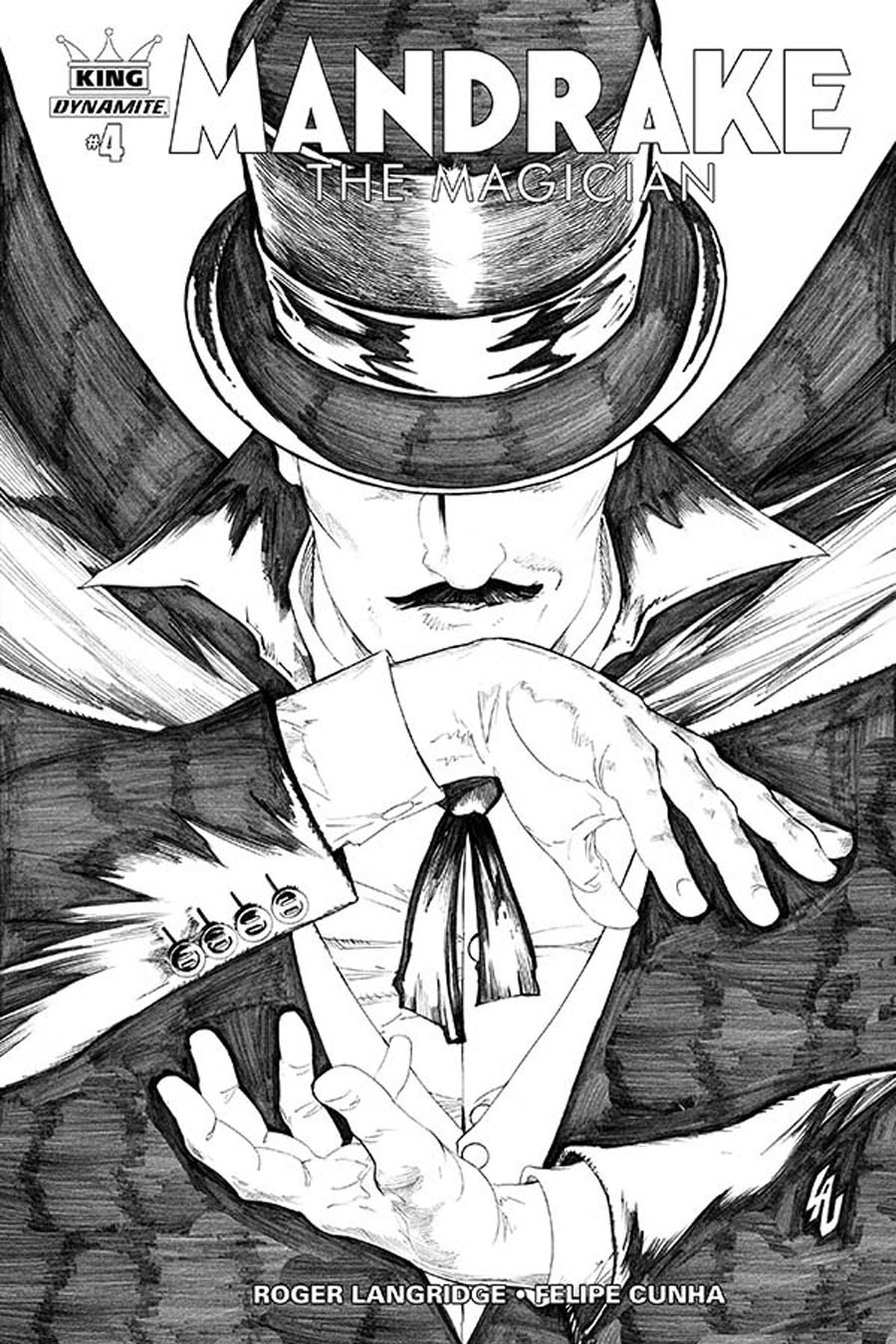 King Mandrake The Magician #4 Cover B Incentive Jonathan Lau Black & White Cover