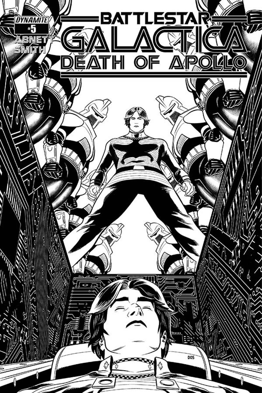 Battlestar Galactica Death Of Apollo #5 Cover E Incentive Dietrich Smith Black & White Cover