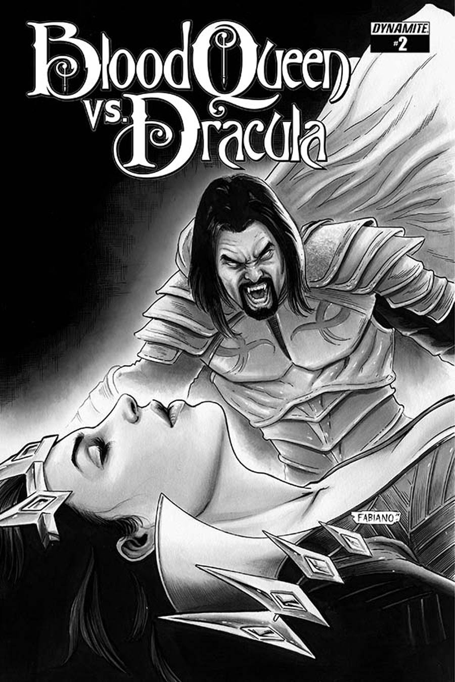 Blood Queen vs Dracula #2 Cover D Incentive Fabiano Neves Black & White Cover
