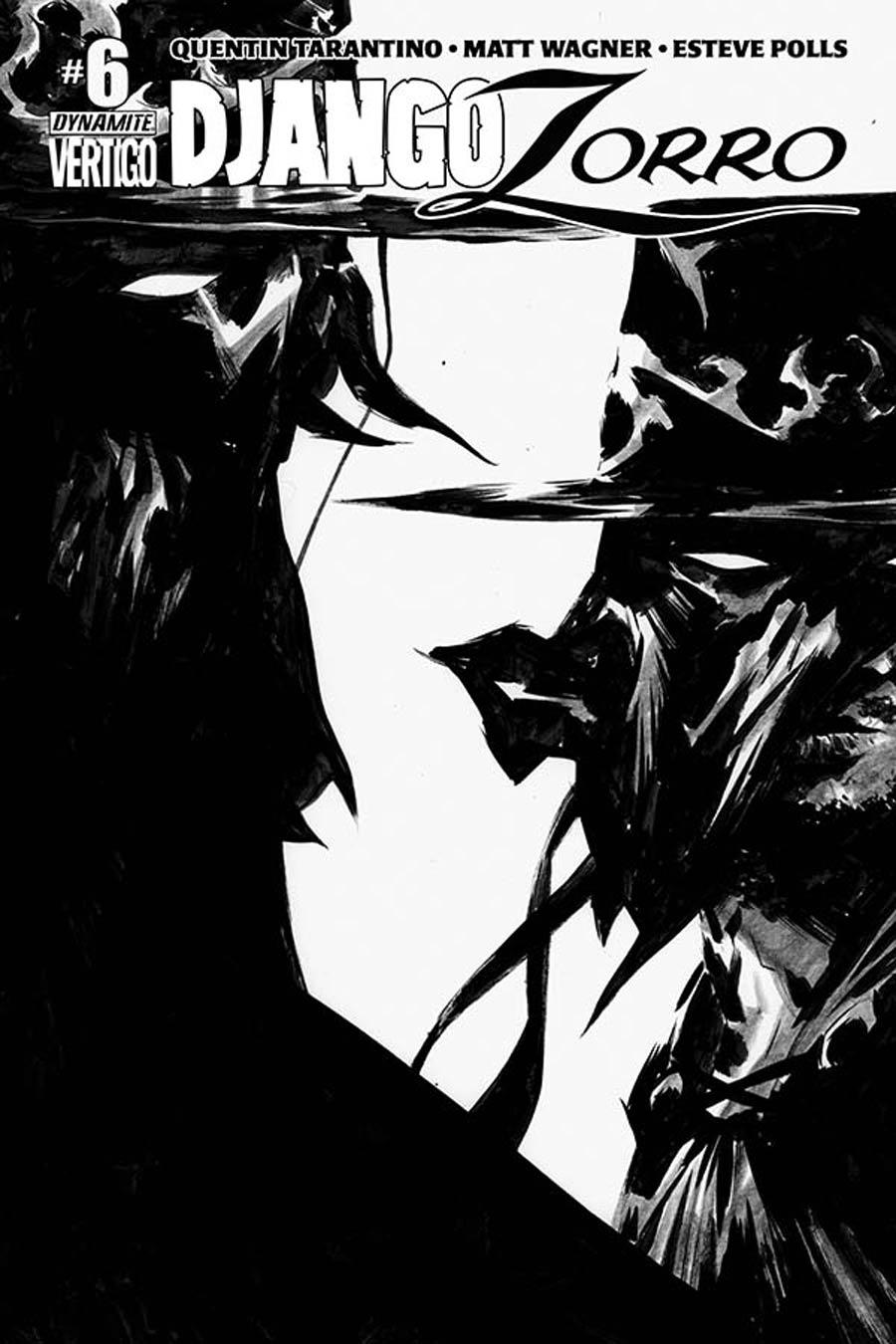 Django Zorro #6 Cover F Incentive Jae Lee Black & White Cover