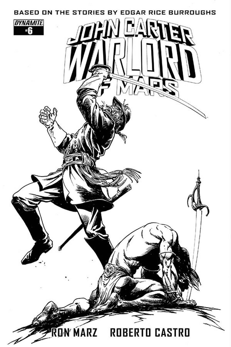 John Carter Warlord Of Mars Vol 2 #6 Cover E Incentive Bart Sears Black & White Cover