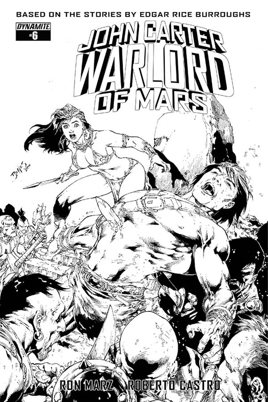 John Carter Warlord Of Mars Vol 2 #6 Cover F Incentive Ed Benes Black & White Cover