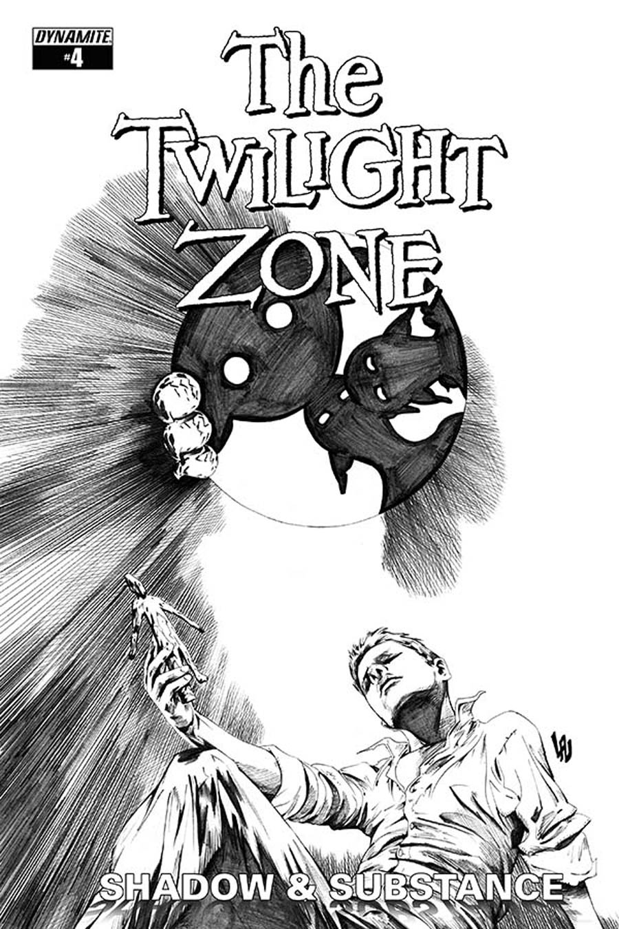 Twilight Zone Shadow & Substance #4 Cover E Incentive Jonathan Lau Black & White Cover