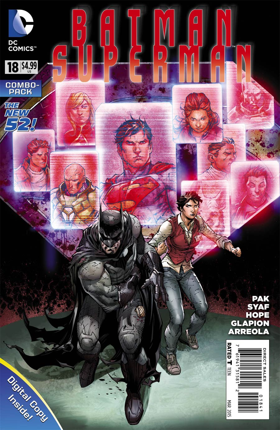 Batman Superman #18 Cover D Combo Pack Without Polybag