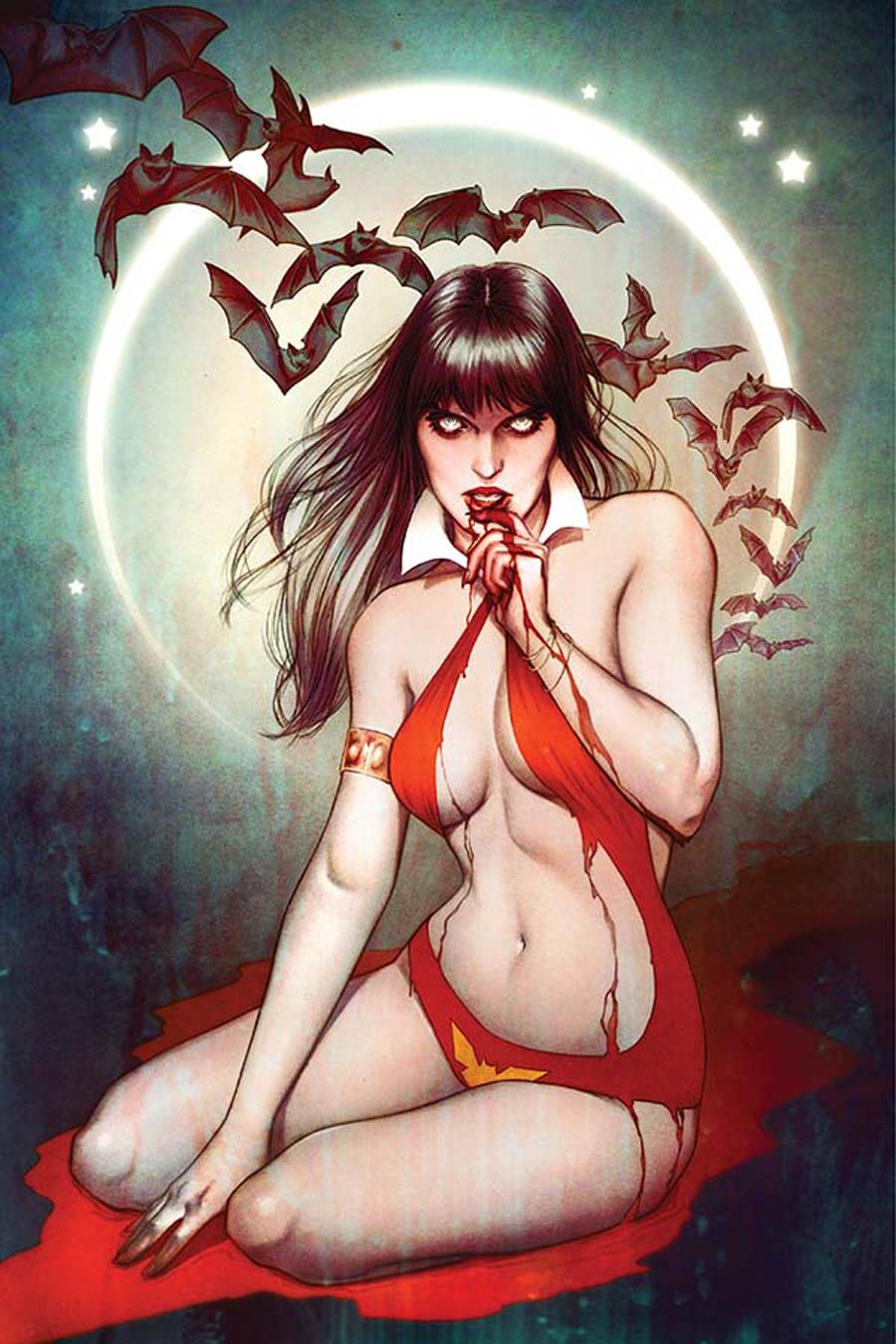 Vampirella Vol 5 #1 Cover V High-End Jenny Frison Virgin Art Ultra-Limited Variant Cover (ONLY 50 COPIES IN EXISTENCE!)