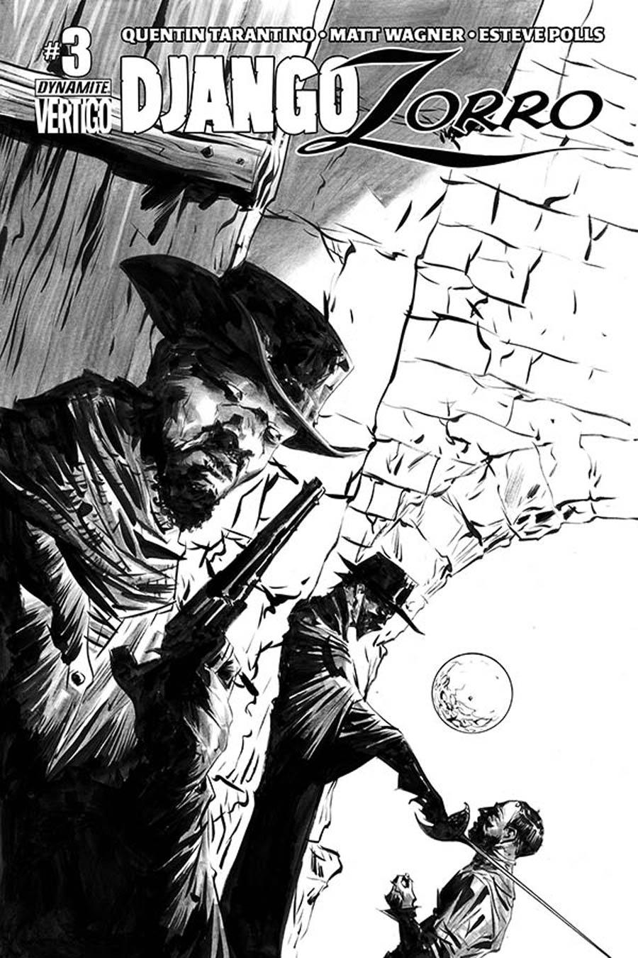 Django Zorro #3 Cover F Incentive Jae Lee Black & White Cover