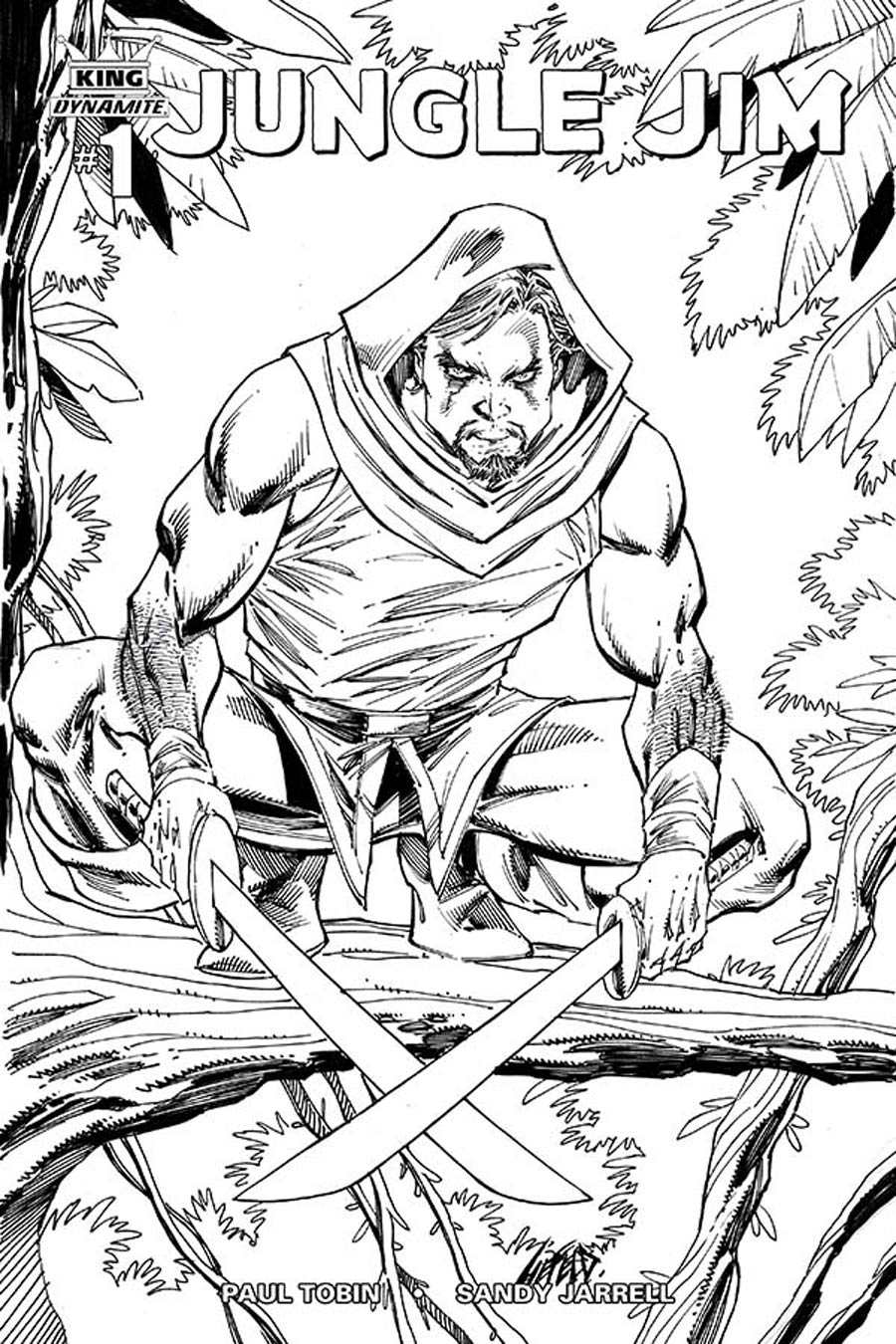 King Jungle Jim #1 Cover E Incentive Rob Liefeld Black & White Variant Cover