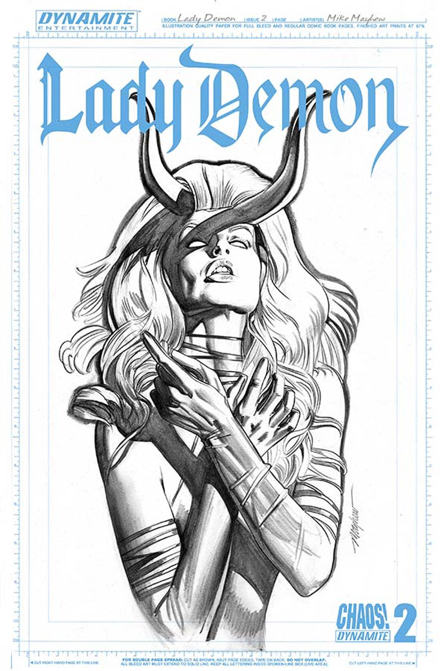 Lady Demon Vol 2 #2 Cover F Incentive Mike Mayhew Art Board Variant Cover