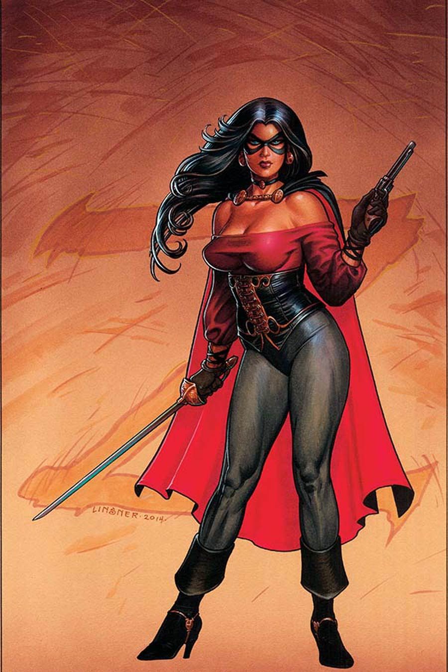 Lady Zorro #1 Cover E High-End Joseph Michael Linsner Virgin Art Ultra-Limited Variant Cover (ONLY 50 COPIES IN EXISTENCE!)