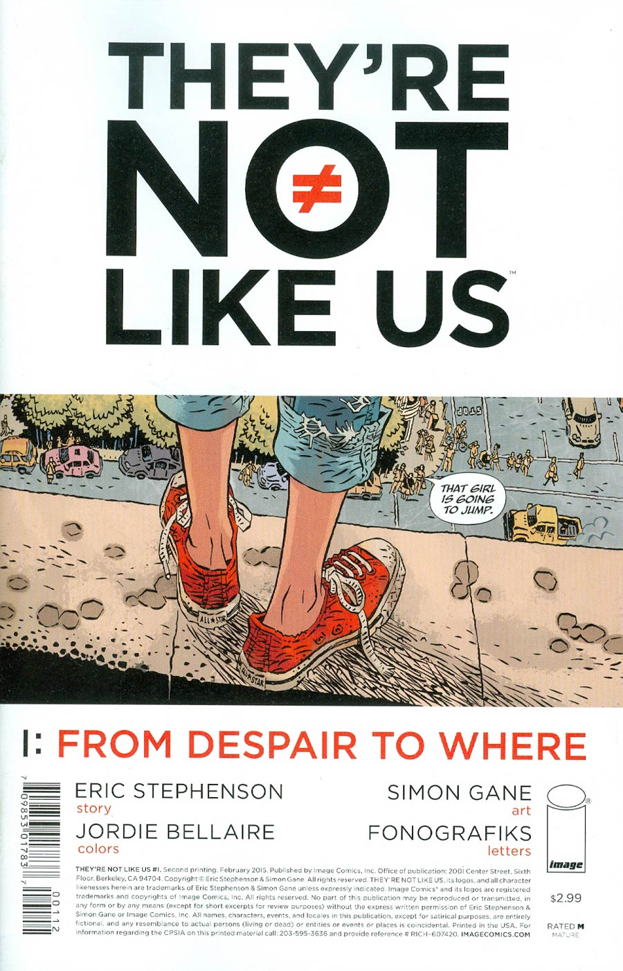 Theyre Not Like Us #1 Cover B 2nd Ptg
