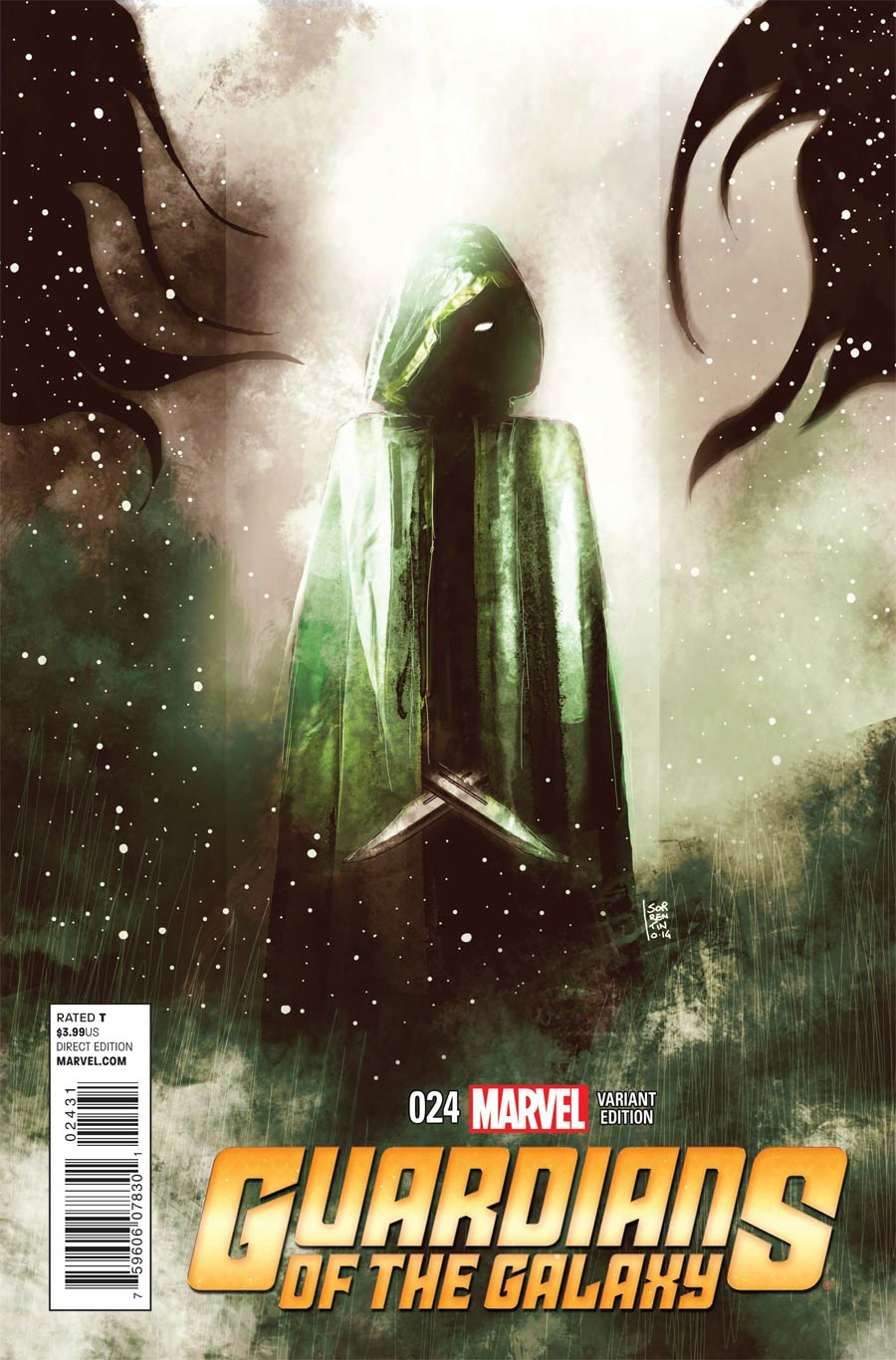 Guardians Of The Galaxy Vol 3 #24 Cover C Incentive Andrea Sorrentino Cosmically Enhanced Variant Cover (Black Vortex Part 2)