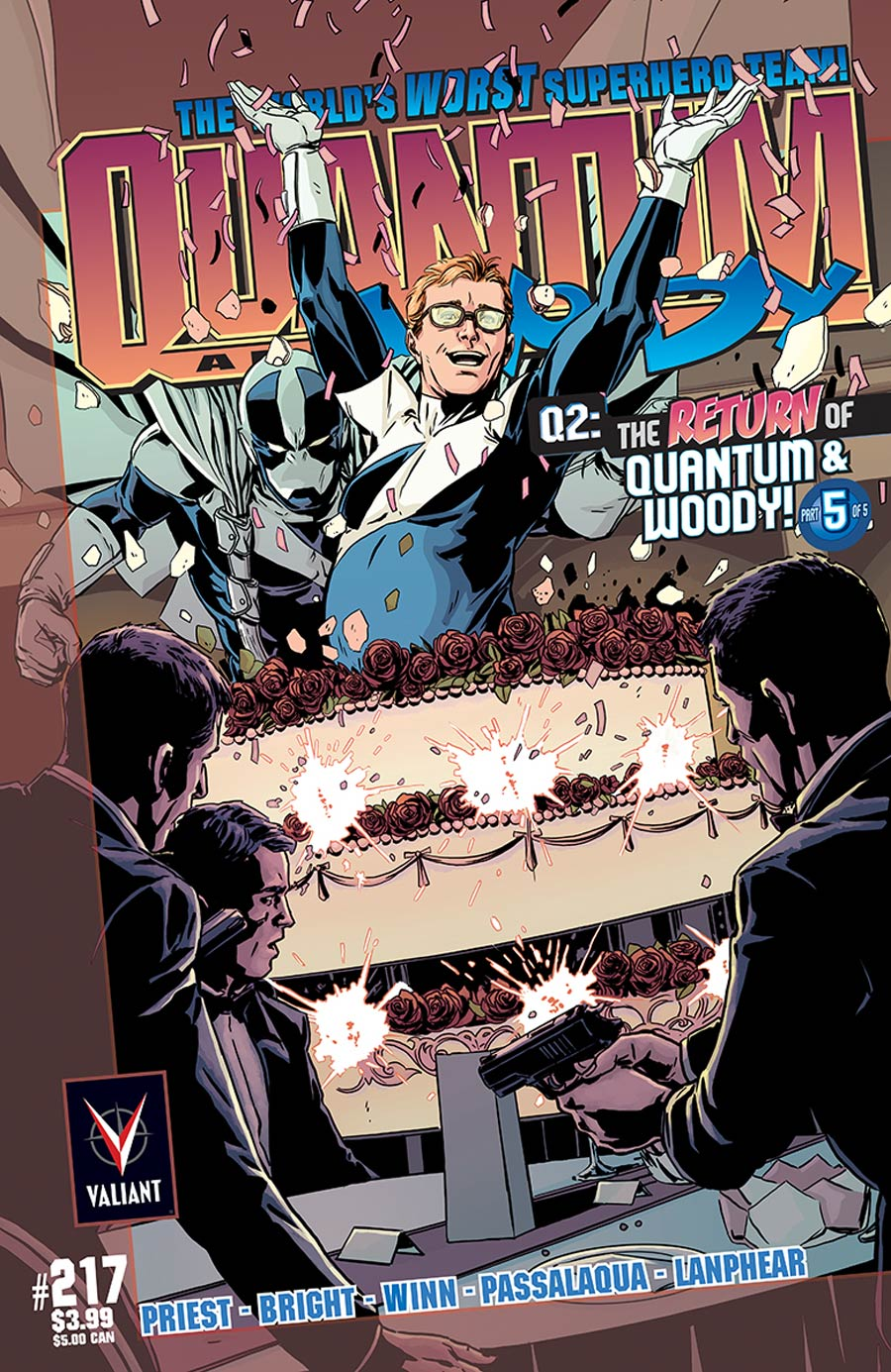 Q2 Return Of Quantum & Woody #5 Cover C Incentive Marc Laming Throwback Variant Cover
