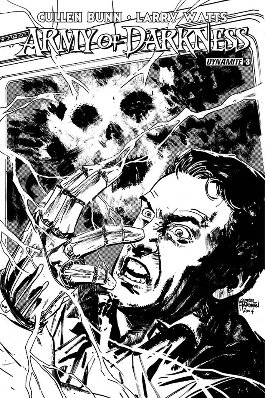 Army Of Darkness Vol 4 #3 Cover D Incentive Gabriel Hardman Black & White Cover
