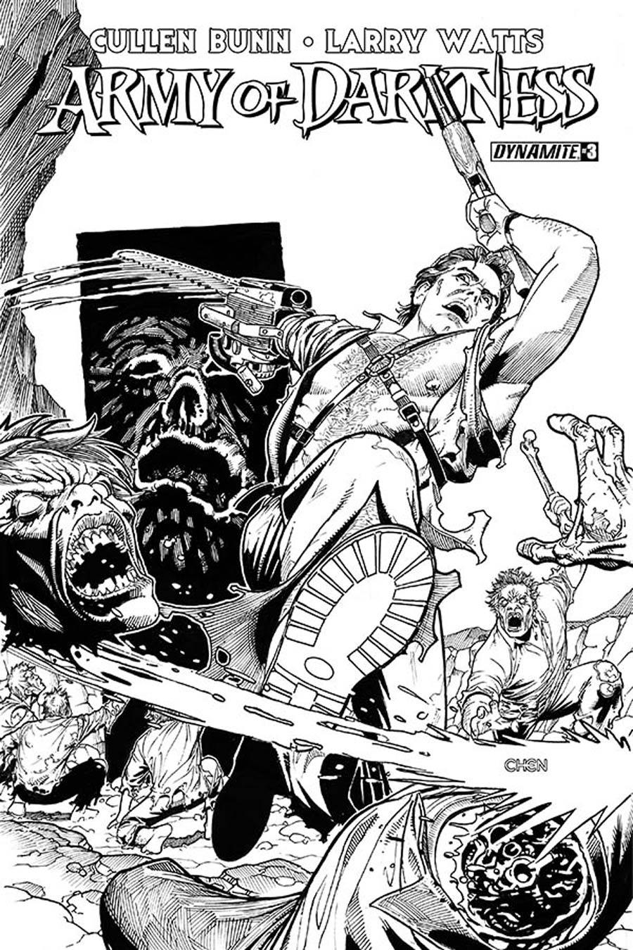 Army Of Darkness Vol 4 #3 Cover E Incentive Sean Chen Black & White Cover