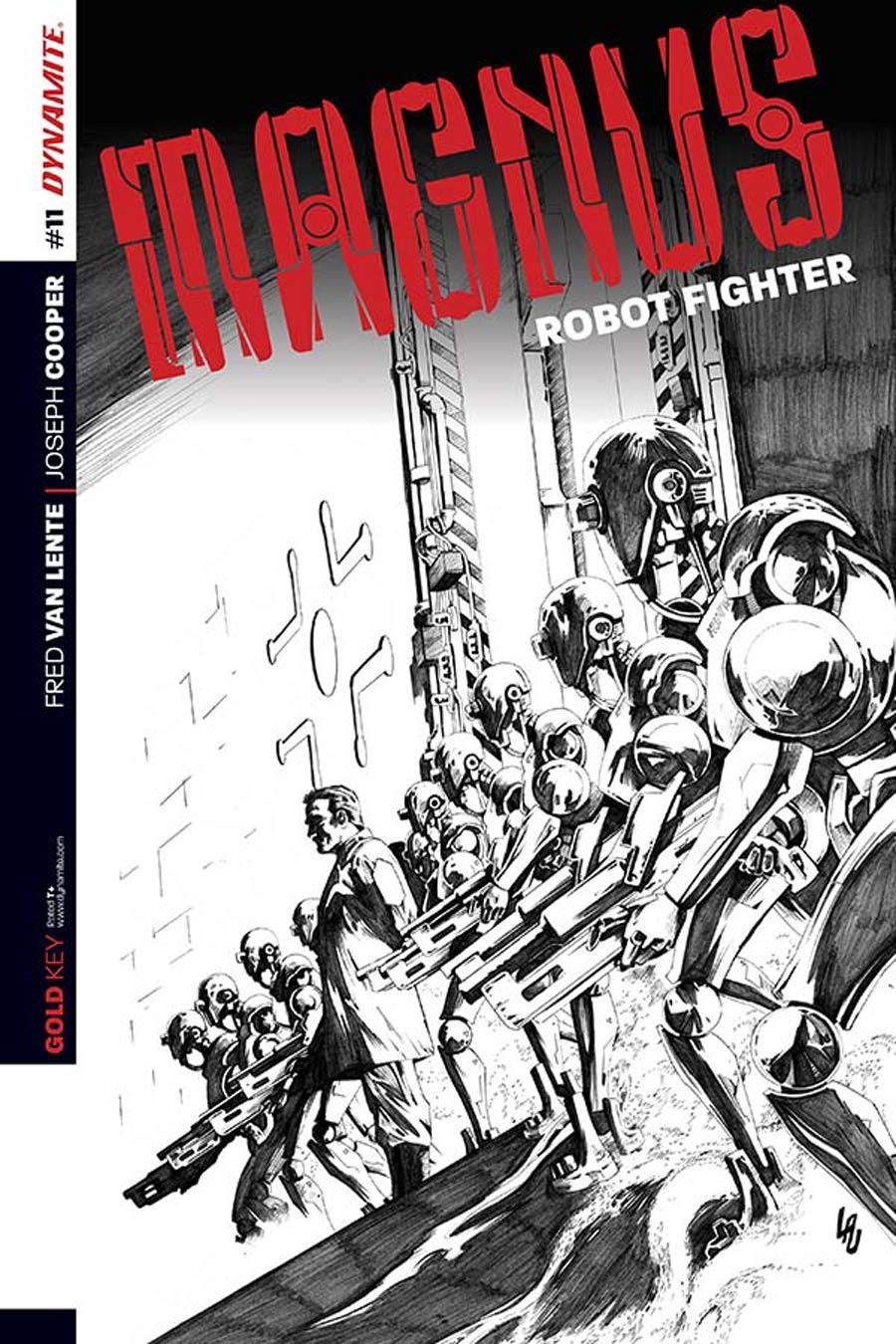 Magnus Robot Fighter Vol 4 #11 Cover C Incentive Jonathan Lau Black & White Cover