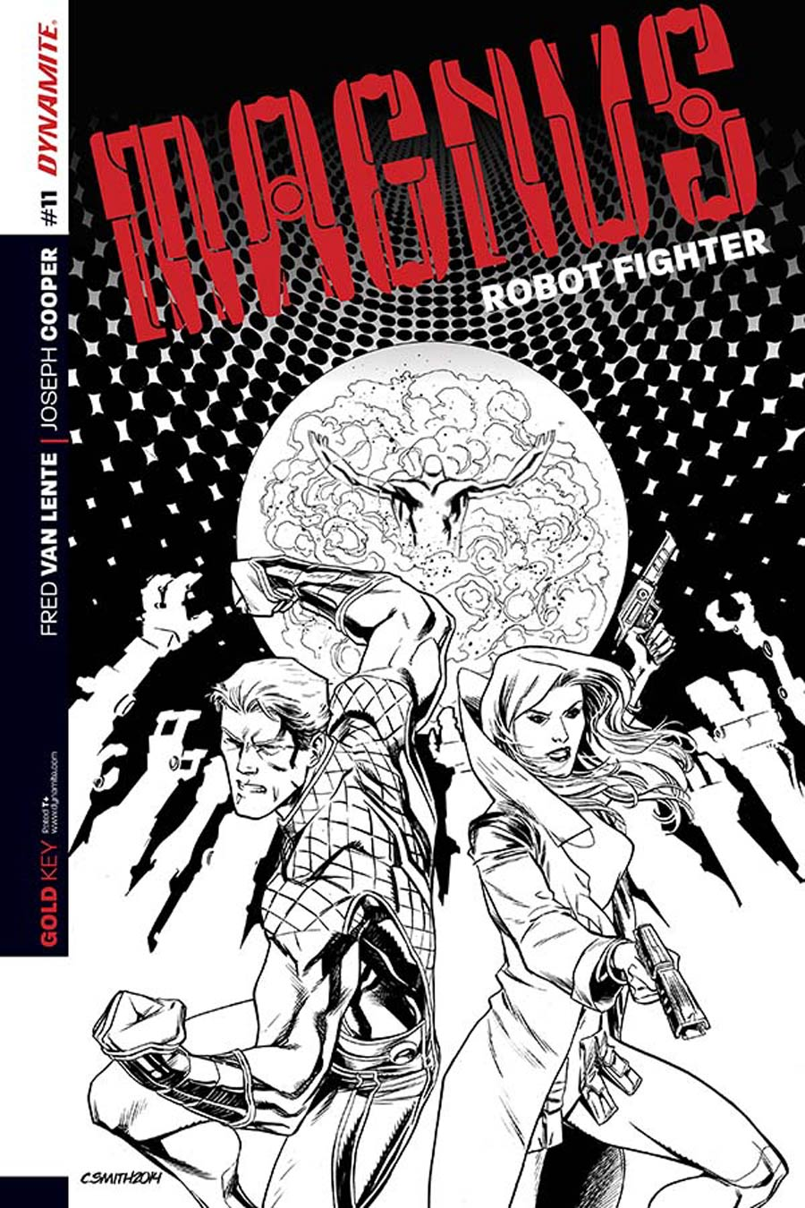 Magnus Robot Fighter Vol 4 #11 Cover D Incentive Cory Smith Black & White Cover