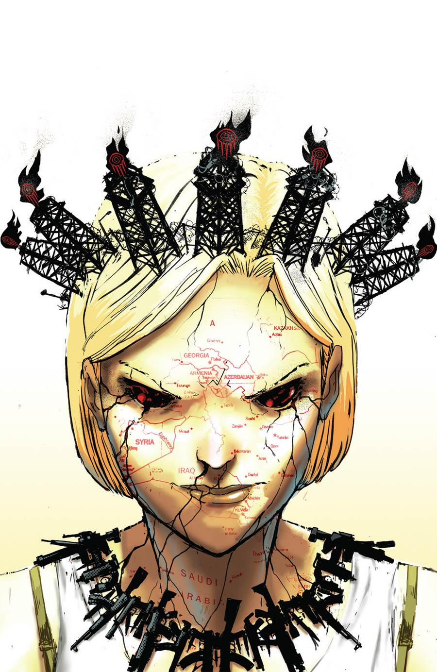 Burning Fields #2 Cover B Incentive Riley Rossmo Virgin Variant Cover