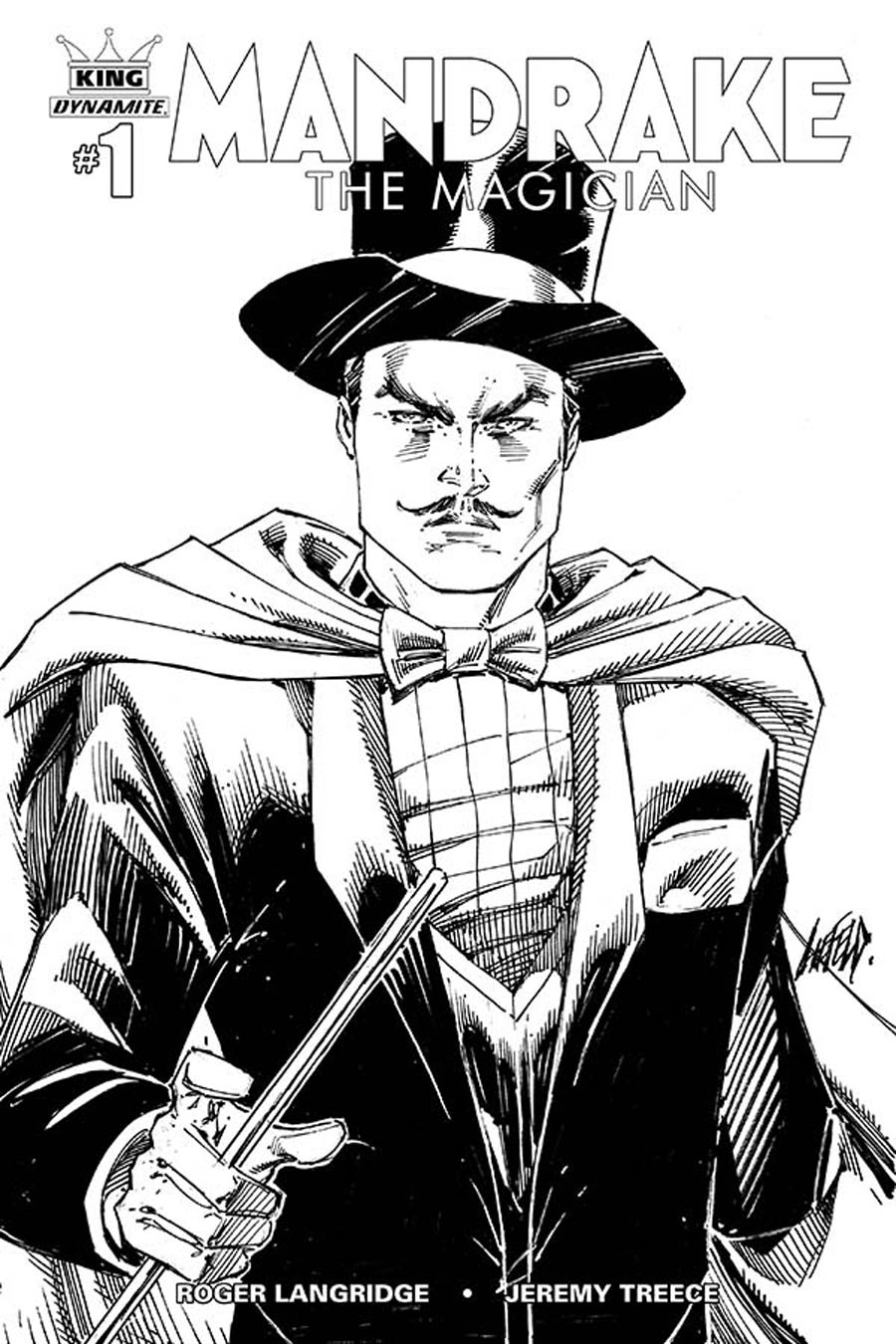 King Mandrake The Magician #1 Cover E Incentive Rob Liefeld Black & White Variant Cover