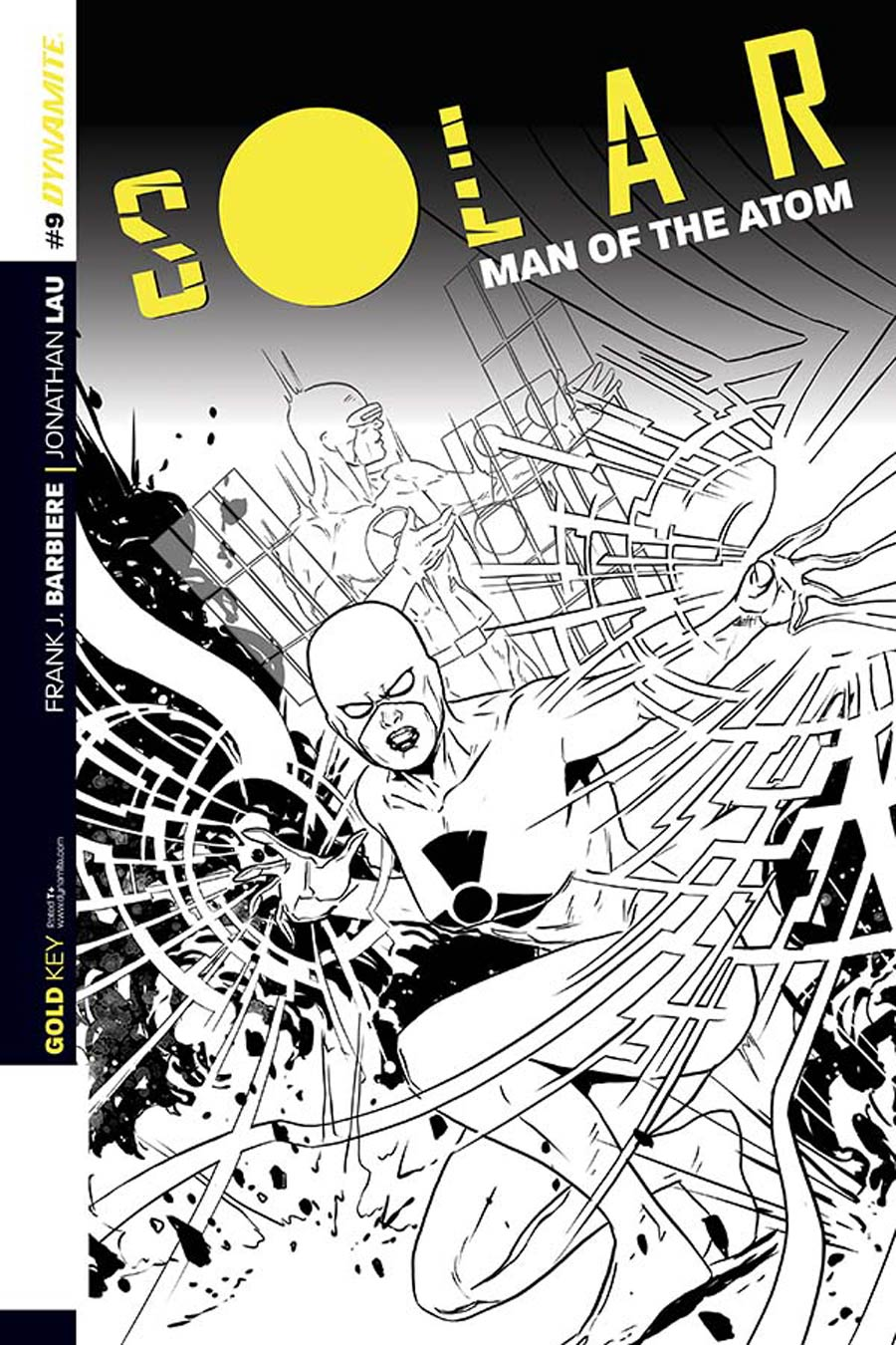Solar Man Of The Atom Vol 2 #9 Cover C Incentive Marc Laming Black & White Cover