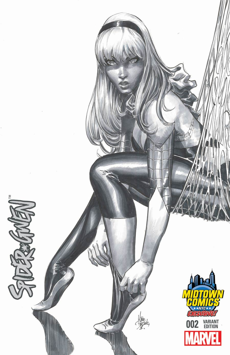 Spider-Gwen #2 Cover C Midtown Exclusive Mike Deodato Black & White Variant Cover