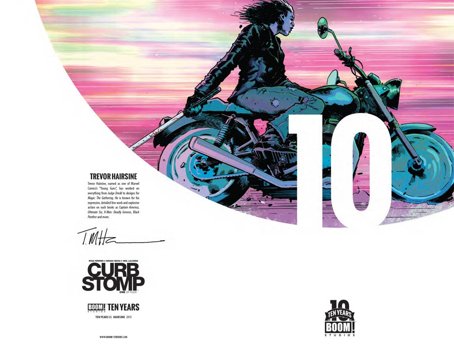 Curb Stomp #1 Cover B Incentive Trevor Hairsine BOOM 10 Years Anniversary Virgin Variant Cover