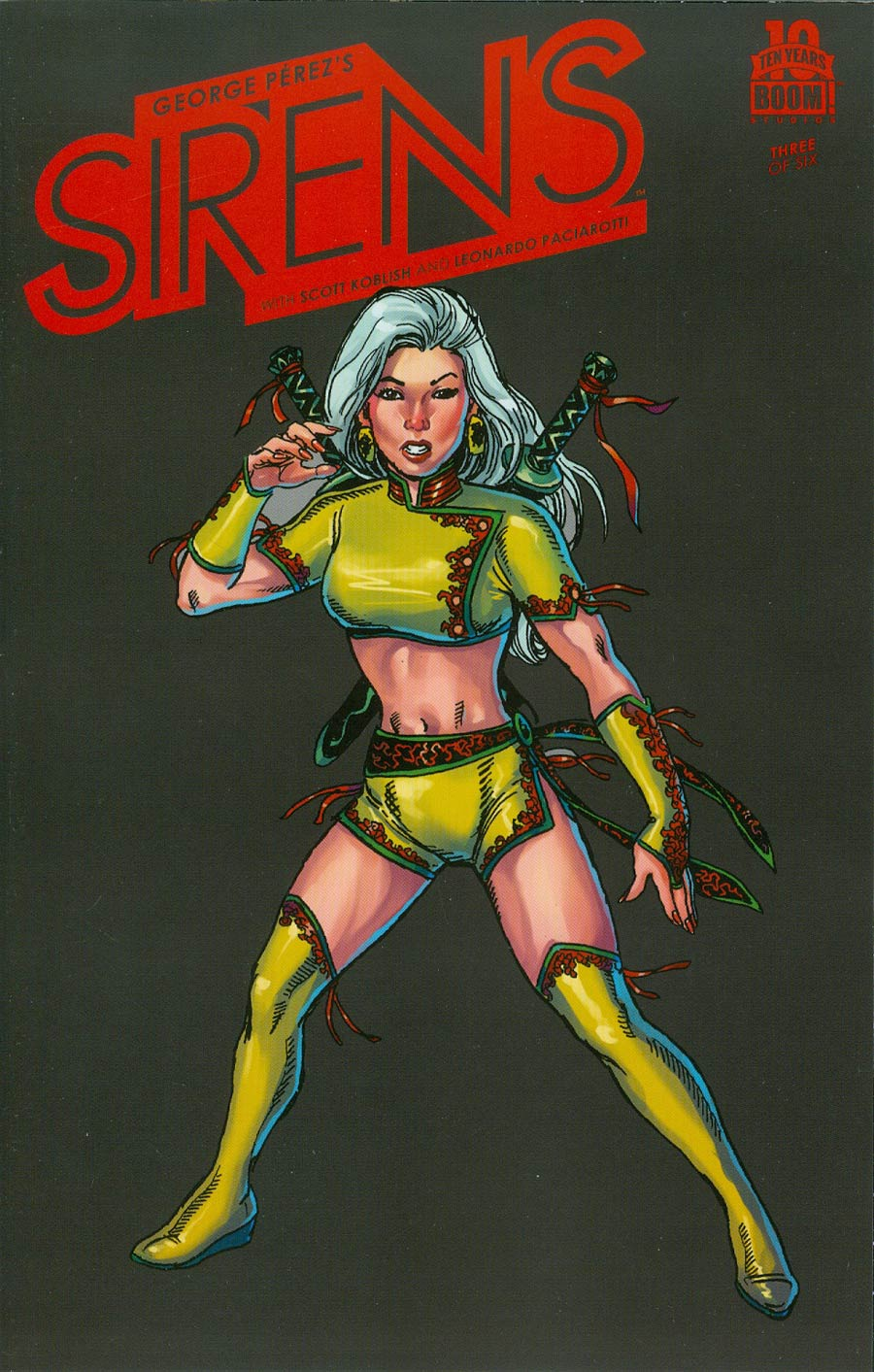 George Perezs Sirens #3 Cover B Incentive George Perez Character Spotlight Virgin Variant Cover