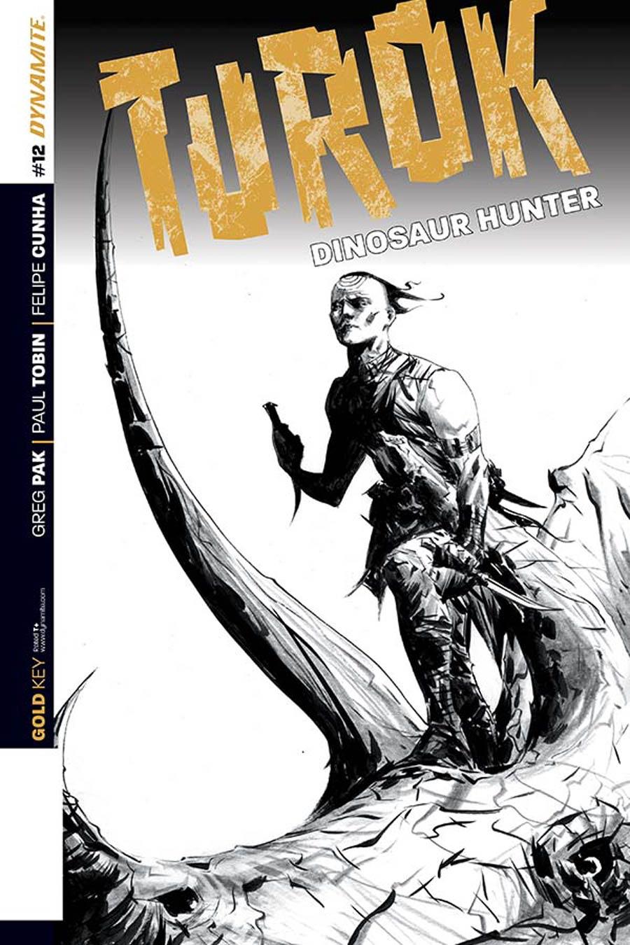 Turok Dinosaur Hunter Vol 2 #12 Cover D Incentive Jae Lee Black & White Cover