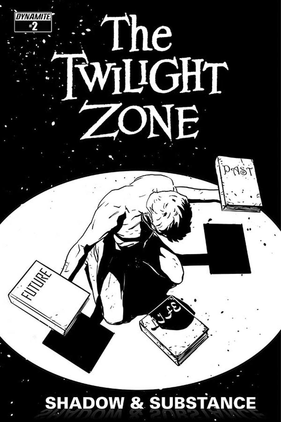 Twilight Zone Shadow & Substance #2 Cover D Incentive Guiu Vilanova Black & White Cover
