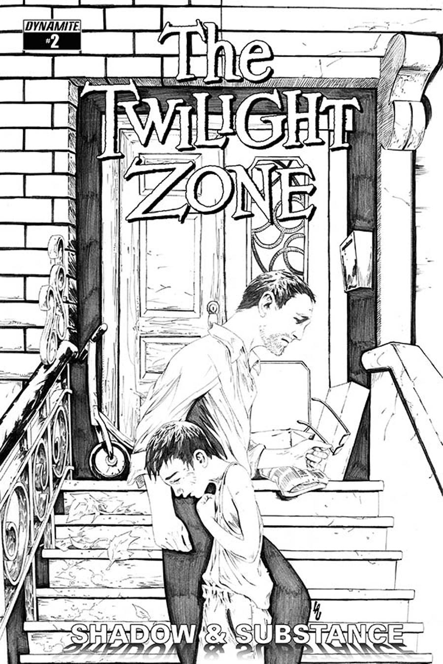 Twilight Zone Shadow & Substance #2 Cover E Incentive Jonathan Lau Black & White Cover