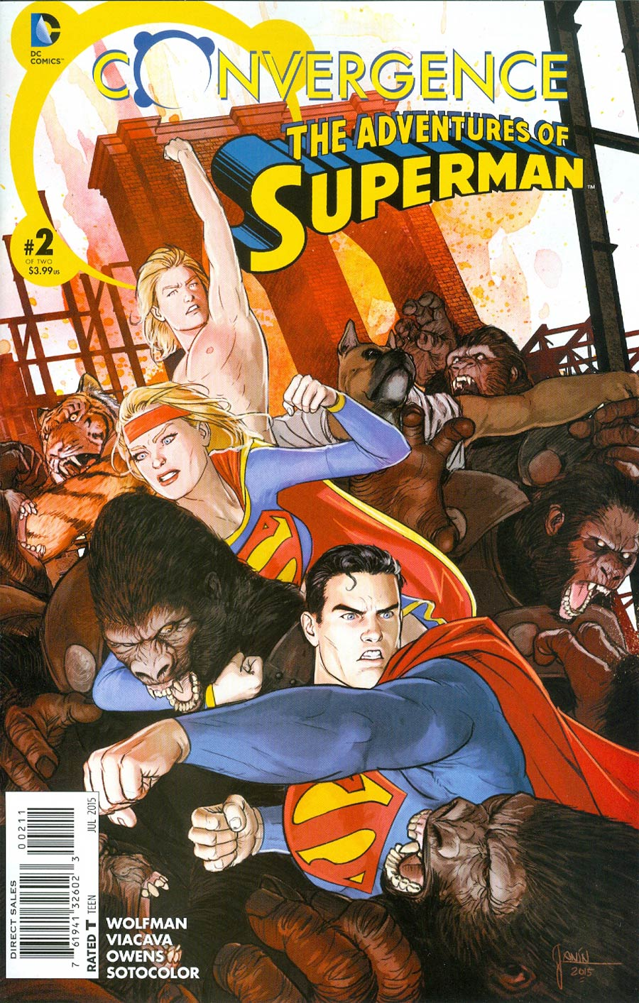 Convergence Adventures Of Superman #2 Cover A Regular Mikel Janin Cover