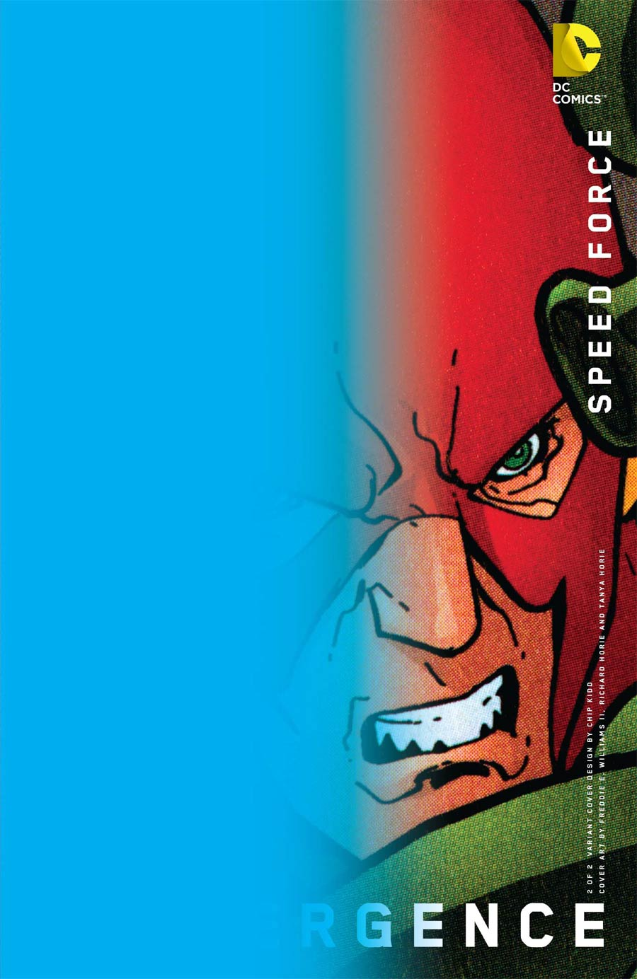 Convergence Speed Force #2 Cover B Variant Chip Kidd Cover