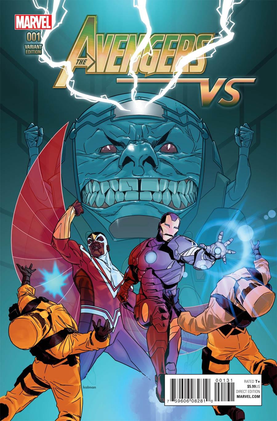 Avengers vs #1 Cover C Variant Kalman Andrasofszky Cover