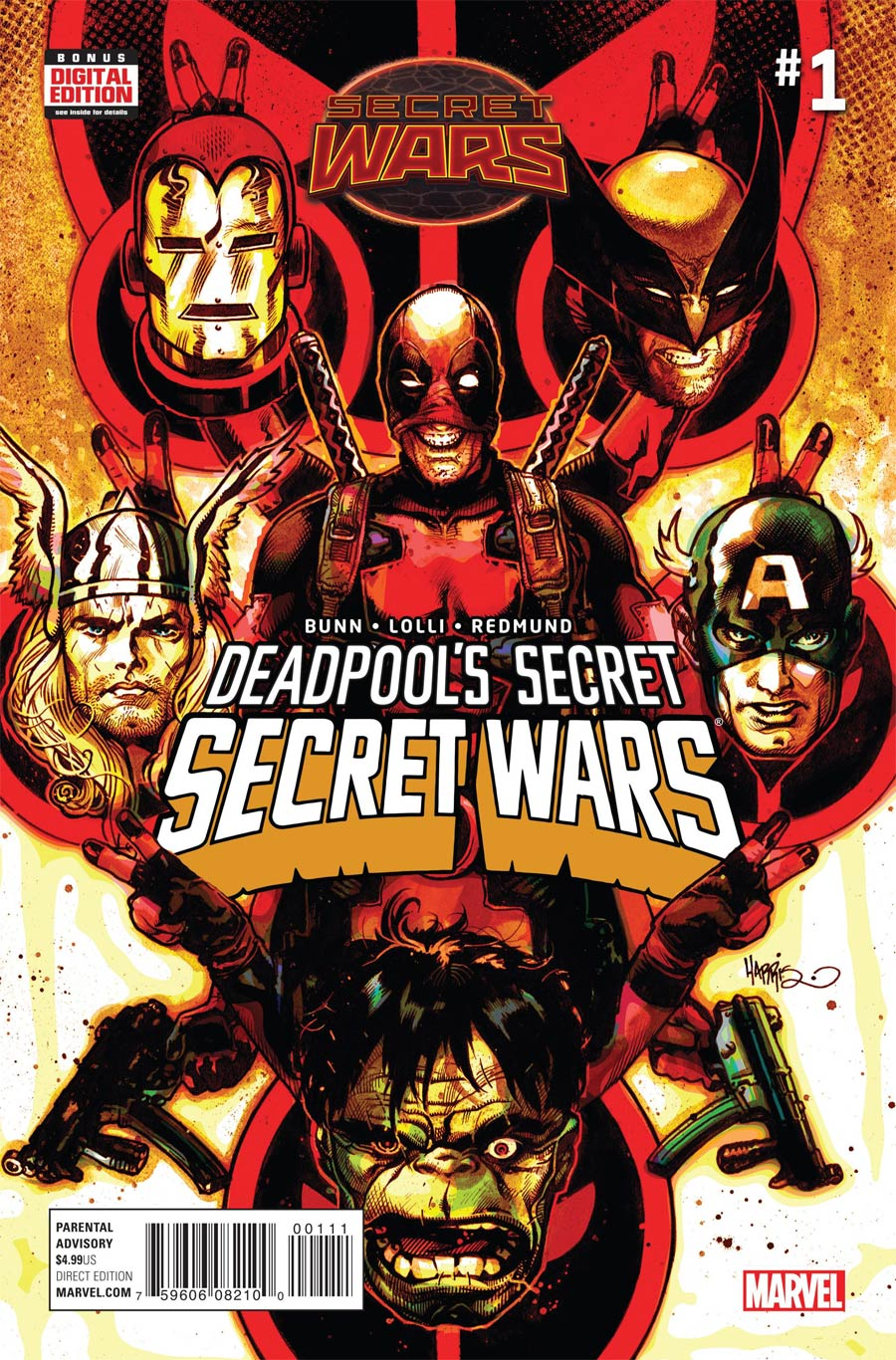 Deadpools Secret Secret Wars #1 Cover A Regular Tony Harris Cover (Secret Wars Warzones Tie-In)